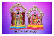 Perumal Thaiyar Lord Venkateswara and Goddess Lakshmi 24 Inches