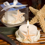 Starfish Design Favor Saver Candles     (Pack of 30)