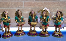 Brass Musical Ganesha 10 Inches