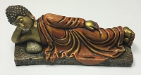 Reclining Buddha Statue - Wood Carving