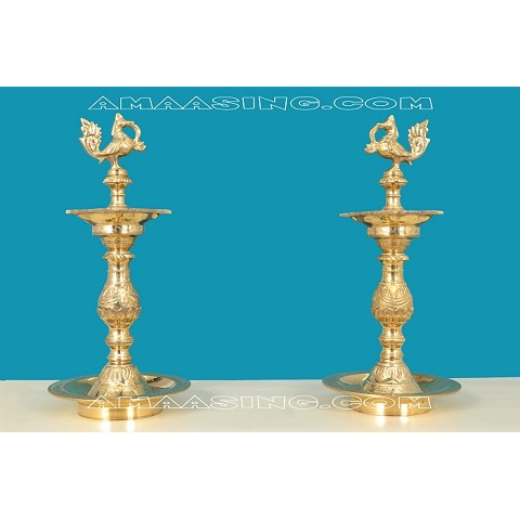 Brass Gold Diya 5ft SD Oran  KuthuVilaku