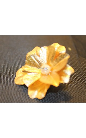 Flower - gold plated 24k